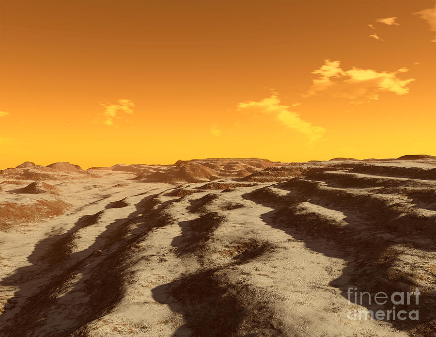 Color Image Digital Art - Illustration Of Terraced Terrain by Ron Miller