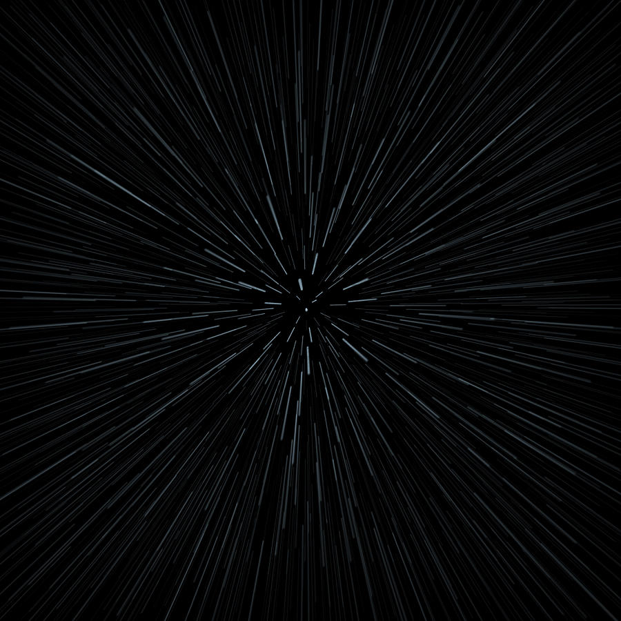 Illustration Of Warp Speed Movement Through Stars Digital Art