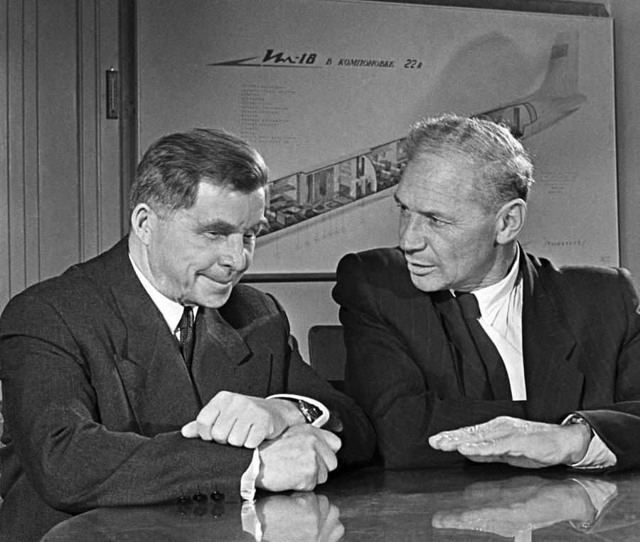 Ilyushin And Kokkinaki, Aviation Pioneers Photograph