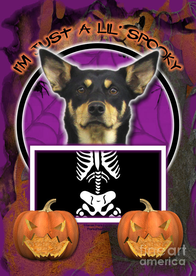 Im Just A Lil Spooky Australian Kelpie Digital Art