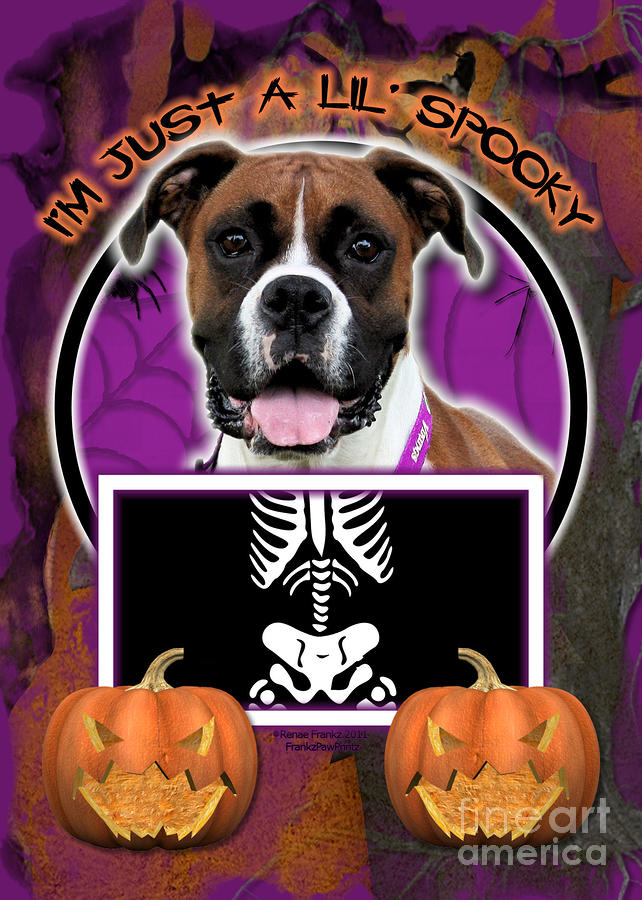 Im Just A Lil Spooky Boxer Digital Art  - Im Just A Lil Spooky Boxer Fine Art Print