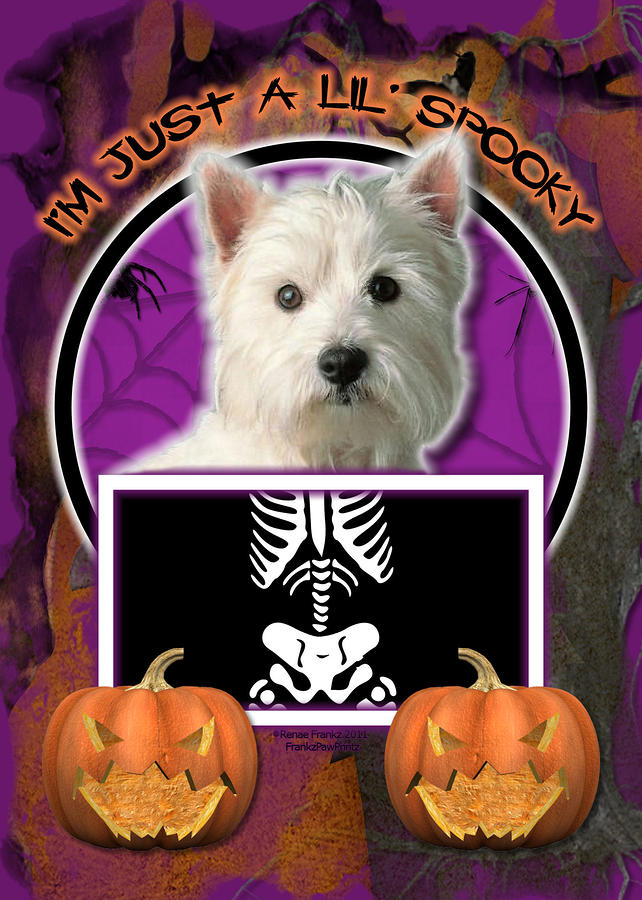 Im Just A Lil Spooky Westie Digital Art  - Im Just A Lil Spooky Westie Fine Art Print