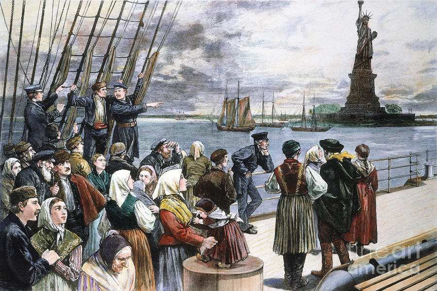 Immigrants On Ship, 1887 Photograph  - Immigrants On Ship, 1887 Fine Art Print