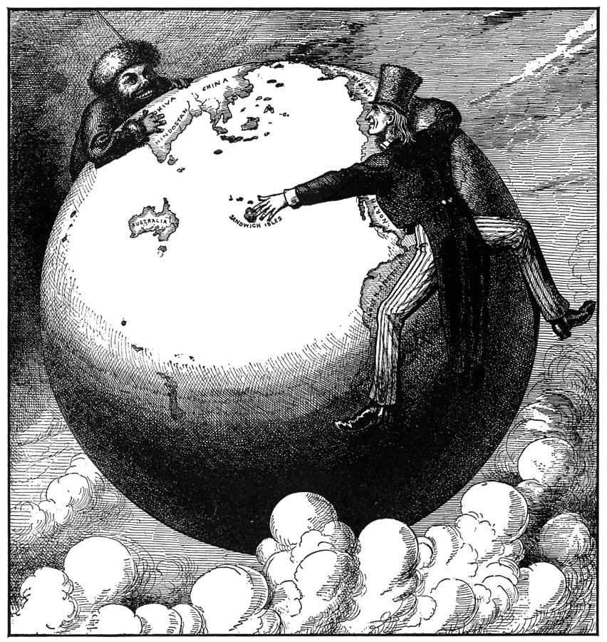 Imperialism Cartoon, 1876 Photograph  - Imperialism Cartoon, 1876 Fine Art Print