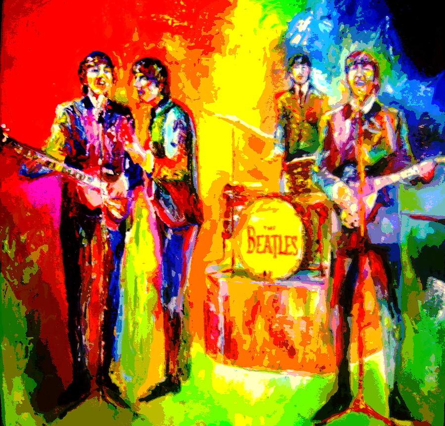 Impressionistc Beatles  Painting