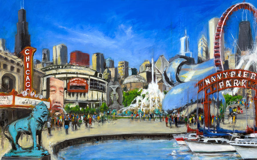 Impressions Of Chicago Painting