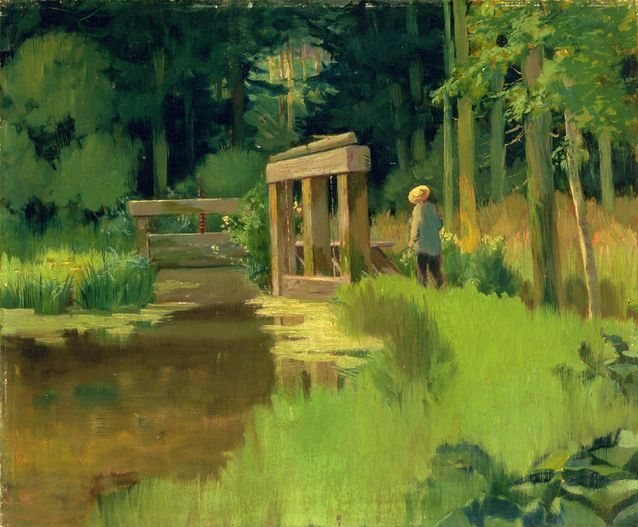 In A Park Painting