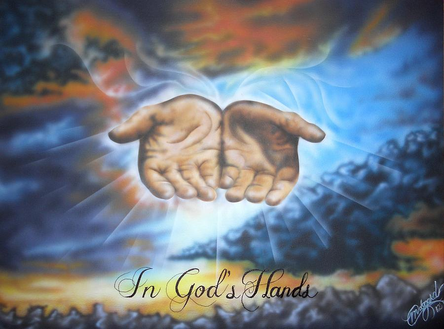 Painting Of Open Hands To Sky