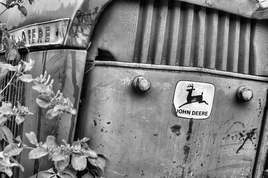 In John Deere Greene Bw Photograph  - In John Deere Greene Bw Fine Art Print