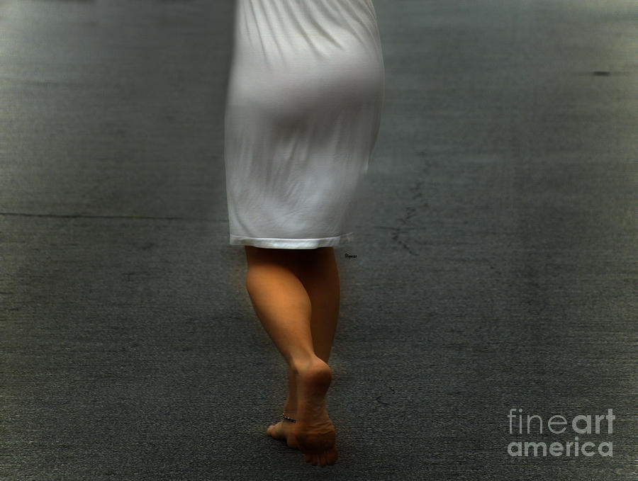 In Just A Street Of White  Photograph  - In Just A Street Of White  Fine Art Print