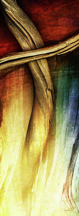 In Light Of The Cross Mixed Media  - In Light Of The Cross Fine Art Print