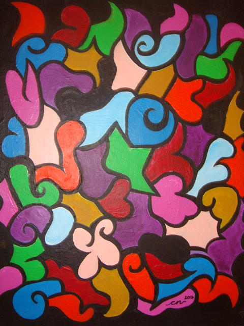 Acrylic Painting - In Living Color by Catherine Nichols