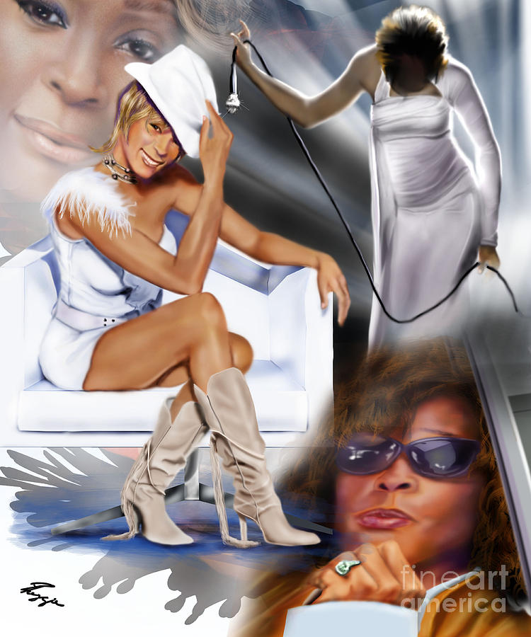 In My Life - Whitney Houston Painting  - In My Life - Whitney Houston Fine Art Print