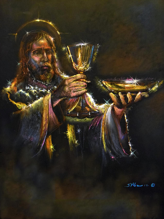 Jesus Pastel - In Remembrance Of Me Ll by Tommy  Winn
