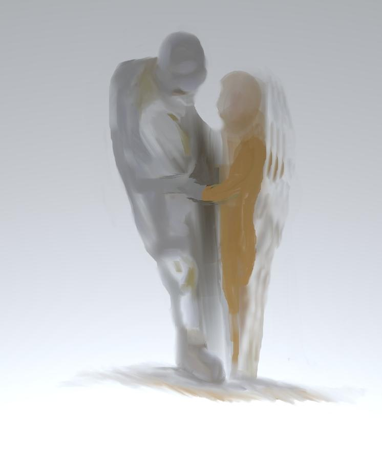 In The Arms Of An Angel Digital Art  - In The Arms Of An Angel Fine Art Print