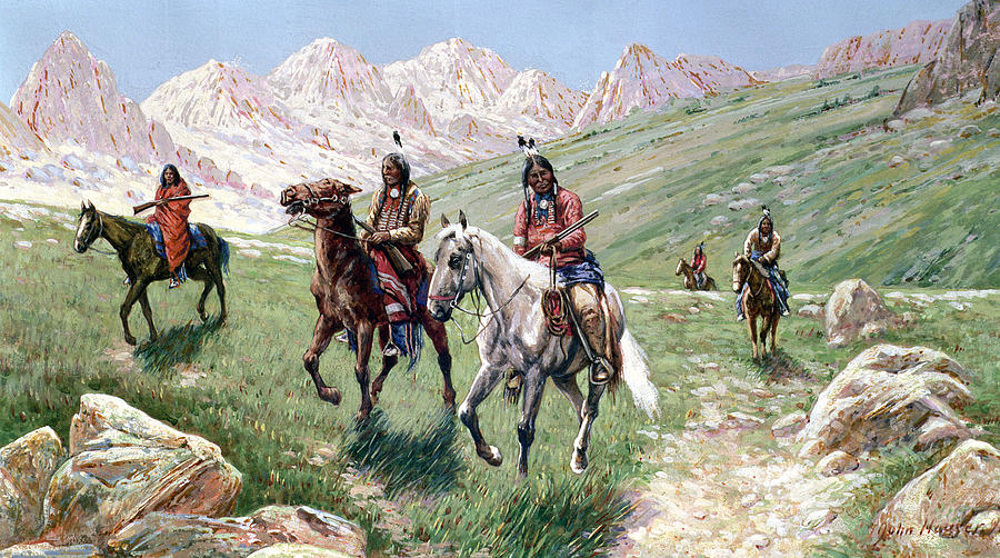 In The Cheyenne Country Painting