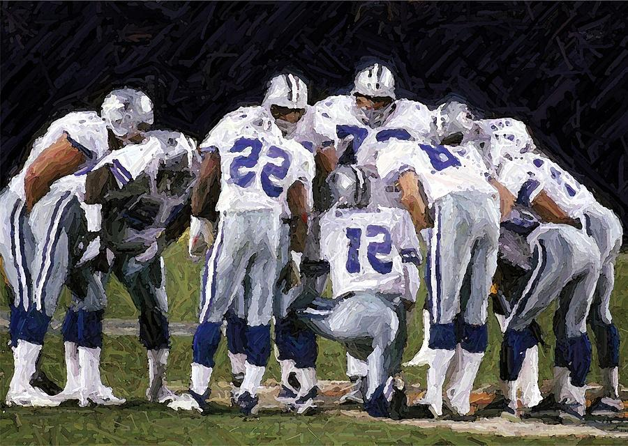 In The Huddle Digital Art