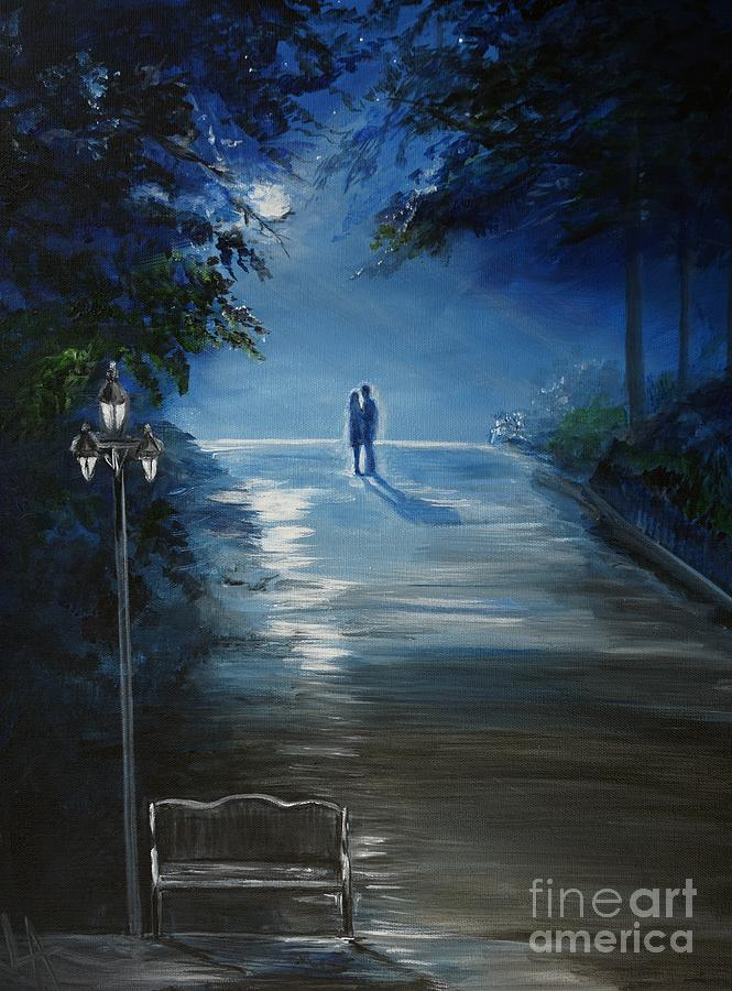 In The Loving Moonlight Painting  - In The Loving Moonlight Fine Art Print