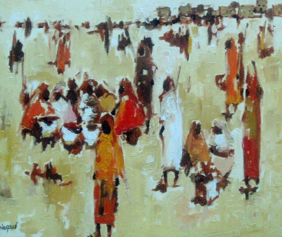 In The Market  Painting