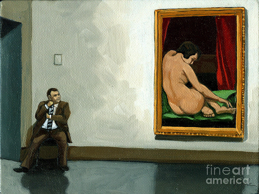 In The Moment - Figurative Oil Painting Painting  - In The Moment - Figurative Oil Painting Fine Art Print