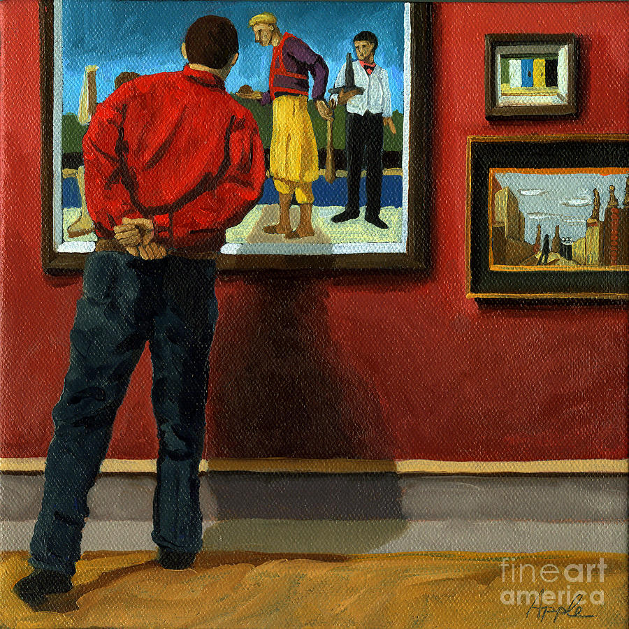 In The Red - Painting Painting  - In The Red - Painting Fine Art Print