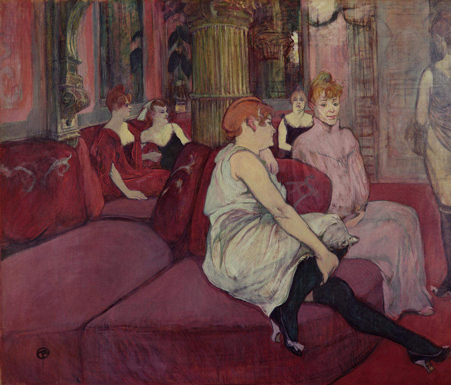 In The Salon At The Rue Des Moulins Painting