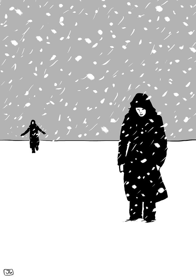 In The Snow Drawing  - In The Snow Fine Art Print
