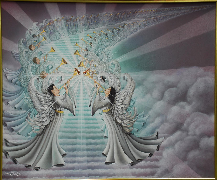 Angel Painting - In The Twinkling Of An Eye by Ruth Gee