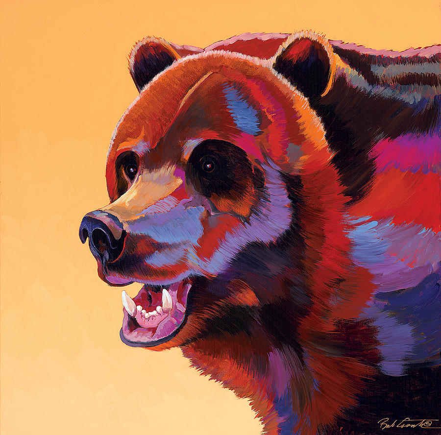 Wildlife Paintings Painting - In Your Face by Bob Coonts