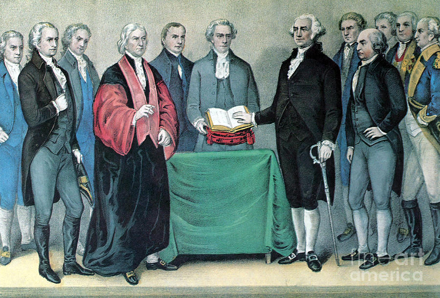 Inauguration Of George Washington, 1789 Photograph  - Inauguration Of George Washington, 1789 Fine Art Print