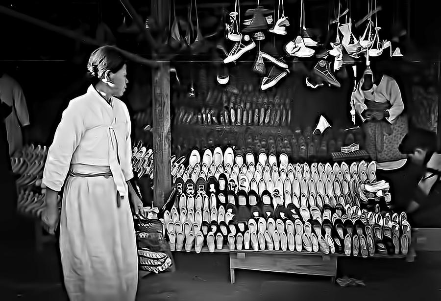Inchon Shoe Store 1955 Photograph  - Inchon Shoe Store 1955 Fine Art Print
