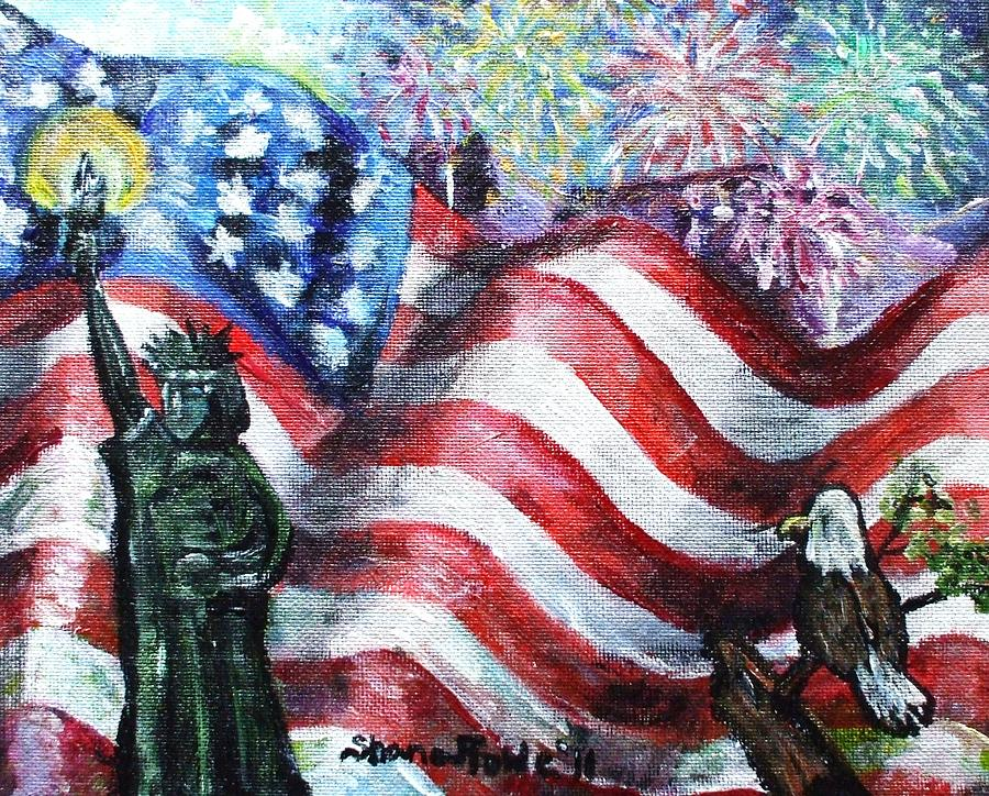 Independence Day Painting  - Independence Day Fine Art Print