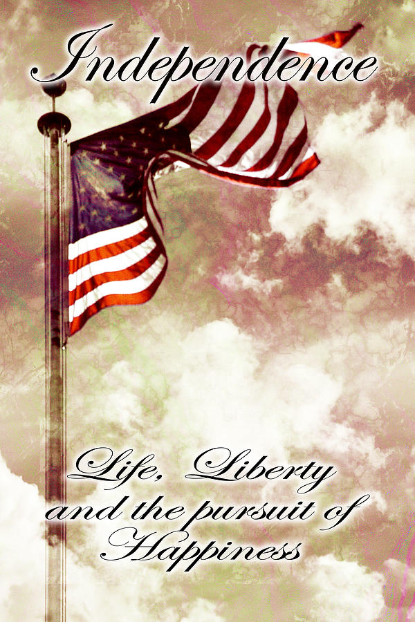 Independence Day Usa Digital Art  - Independence Day Usa Fine Art Print