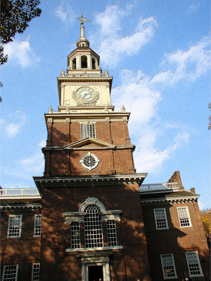 Independence Hall Mixed Media  - Independence Hall Fine Art Print