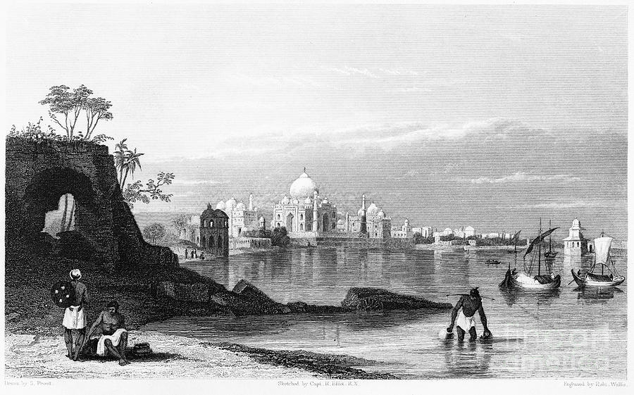 India: Taj Mahal, C1860 Photograph