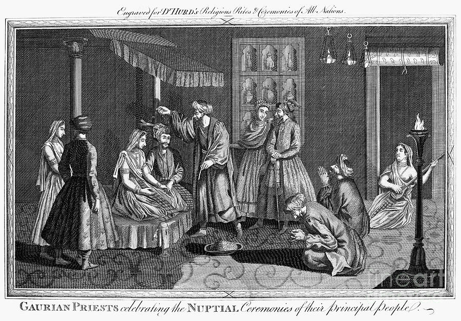 India: Wedding, 1780s Photograph  - India: Wedding, 1780s Fine Art Print
