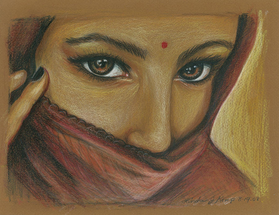 India Woman Drawing