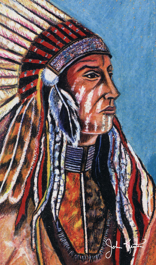 Indian Chief Painting  - Indian Chief Fine Art Print