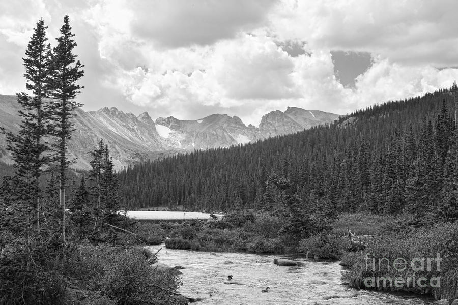 Indian Peaks Summer Day Bw Photograph