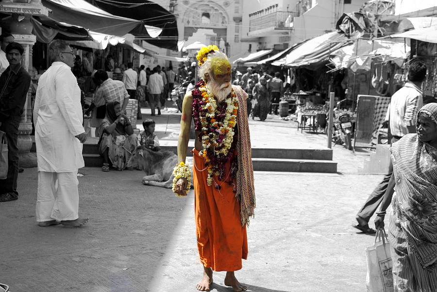 Indian Sadhu At A Religious Spot In India Photograph  - Indian Sadhu At A Religious Spot In India Fine Art Print
