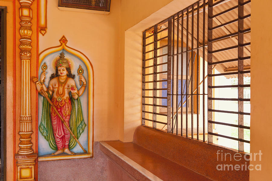 Indian Temple Bench And Artwork Photograph