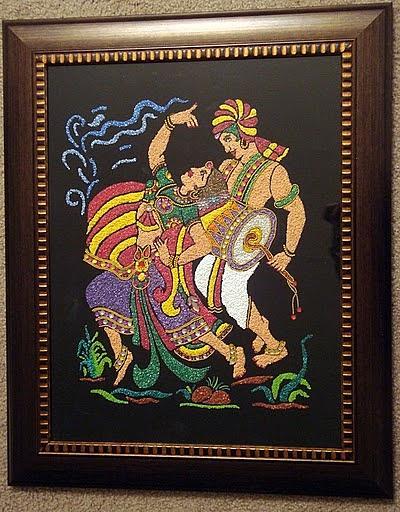 Indian traditional dancing couple by deeksha arya for Arya fine indian cuisine