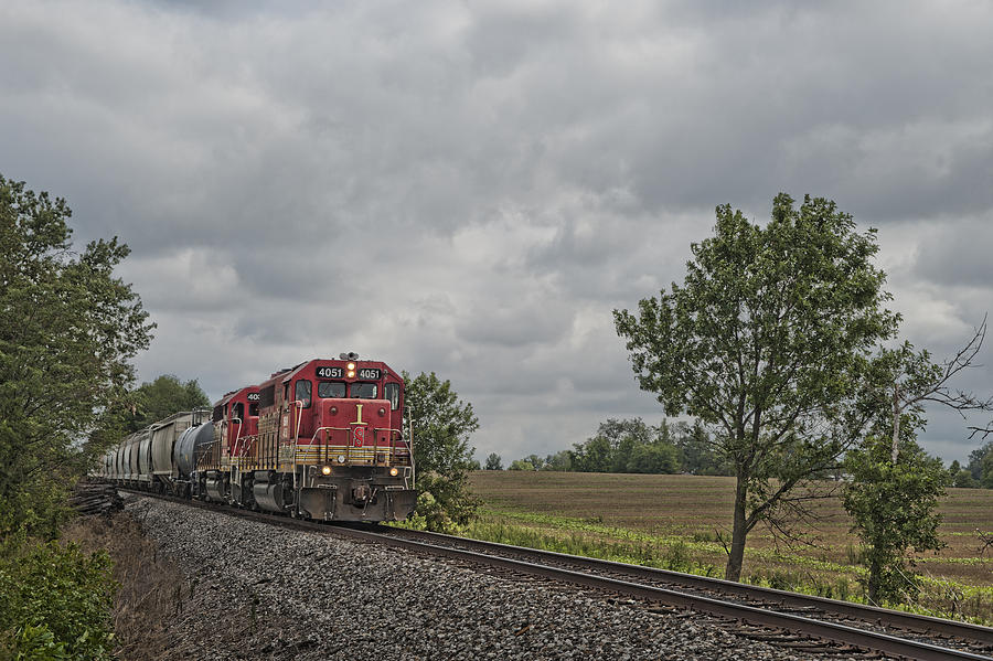 Indiana Southern 4051 At Mackey Indiana Photograph  - Indiana Southern 4051 At Mackey Indiana Fine Art Print