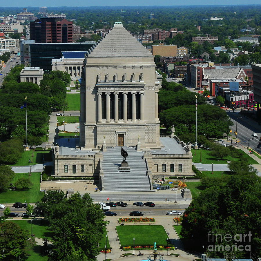Indiana World And War Memorial Photograph  - Indiana World And War Memorial Fine Art Print