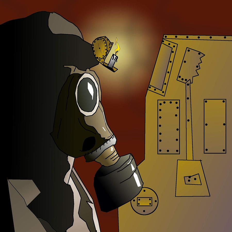 Indoor Steampunk Slots Machine Drawing