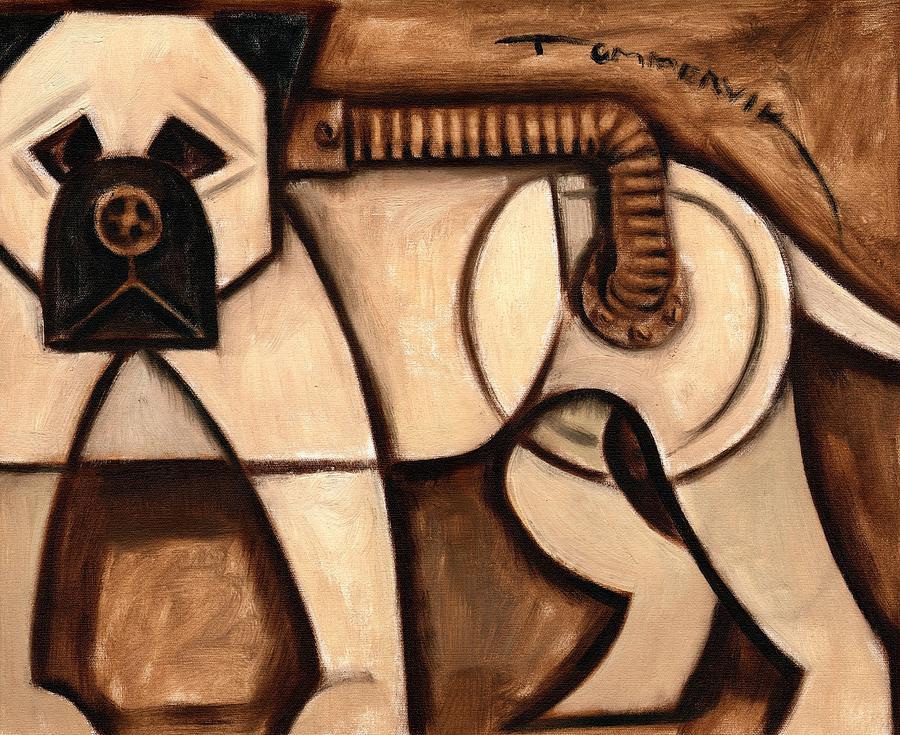 Industrial Bullmastiff Guard Dog Painting