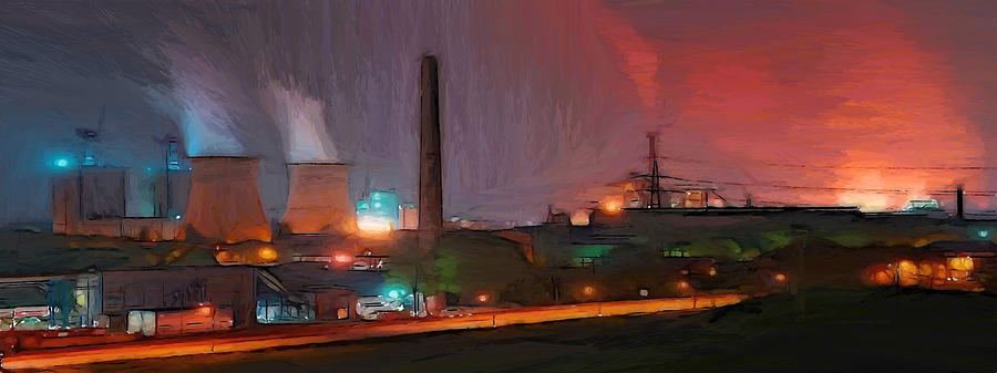 Industrial Lights Painting  - Industrial Lights Fine Art Print