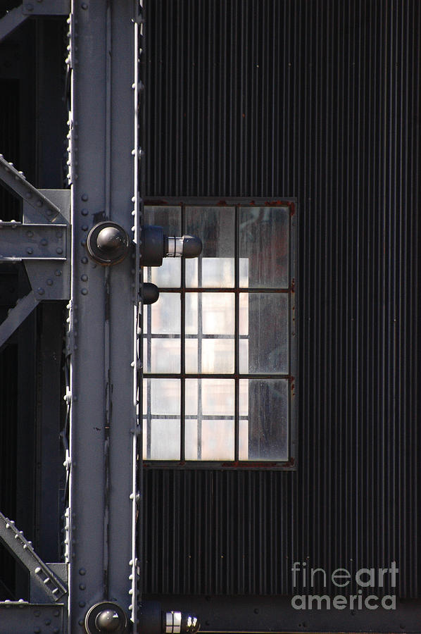 Industrial Urban Window Photograph  - Industrial Urban Window Fine Art Print