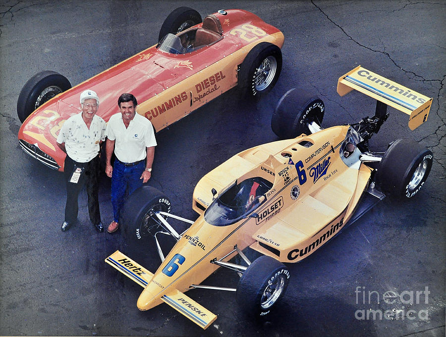 Indy 500 Historical Race Cars Photograph