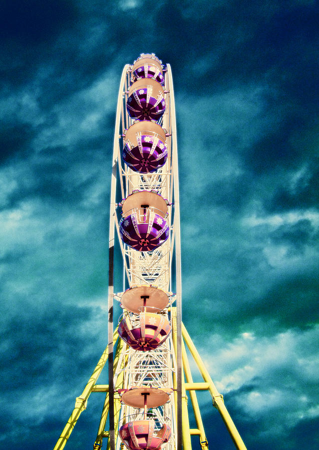 infrared Ferris wheel Photograph